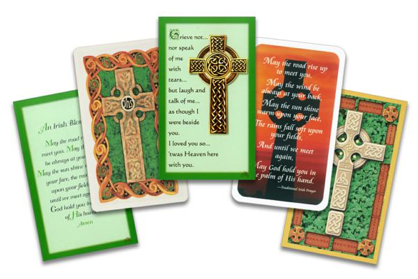 celtic memorial cards