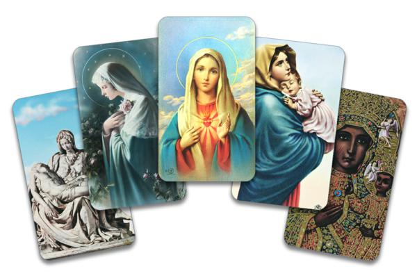 Mary prayer cards