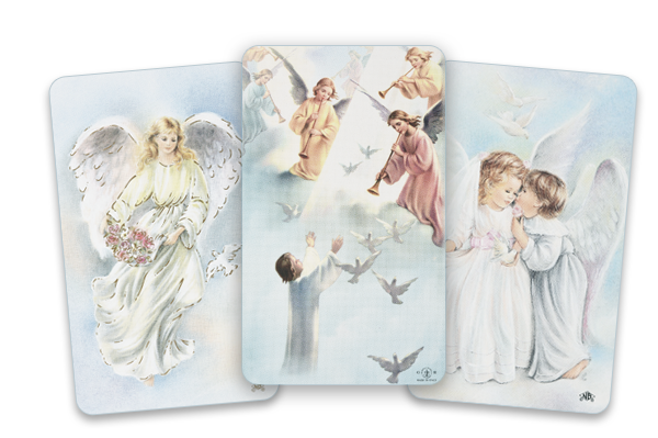 angels funeral card