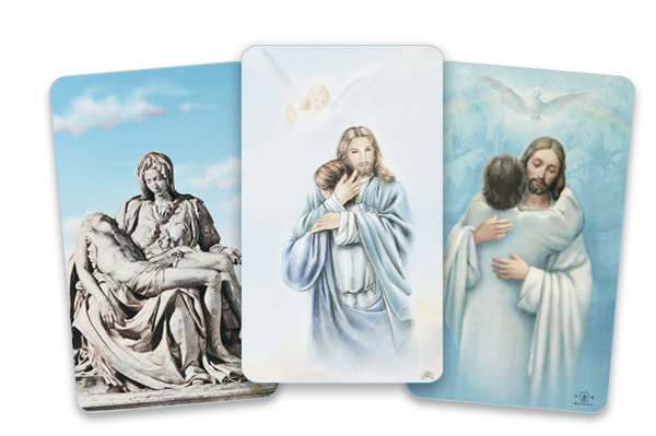 Christ funeral card