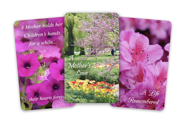 flower funeral cards