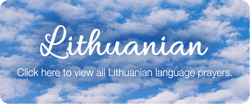 lithuanian prayers