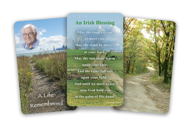 pathways funeral card