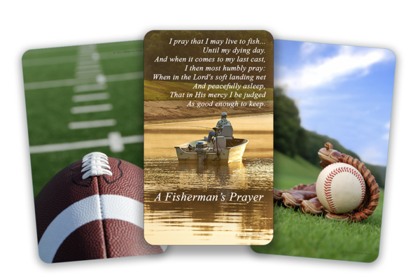 professional funeral cards